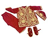 Srawen Pasni Dress for Baby boy-Velvet Red Rice Feeding Outfits_Baby weaning Nepali Dress|3-5 Business Days to Deliver