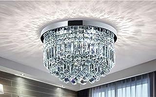 Bestier Modern Clear Clear Raindrop Chandelier Lighting Lámpara empotrada en el techo Lámpara de techo para el comedor Cuarto de baño Dormitorio Sala de estar E14 Bombillas requeridas