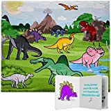 Kids Fleece Dinosaur Blanket Throw with Dinosaur Story Book | Snuggle and Seek Interactive Story Blanket for Boys and Girls | Comfy - Soft Premium Quality Dino Blanket Size 60' X 48' Machine Washable