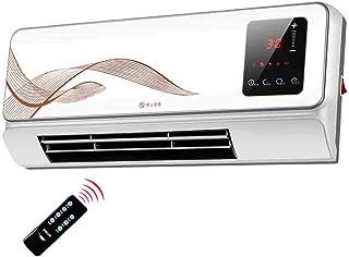 FEI Calefactor Calentador de cerámica PTC Montaje en Pared Calentador 2000W Monitor LCD y Control Remoto Corte de Seguridad de inclinación