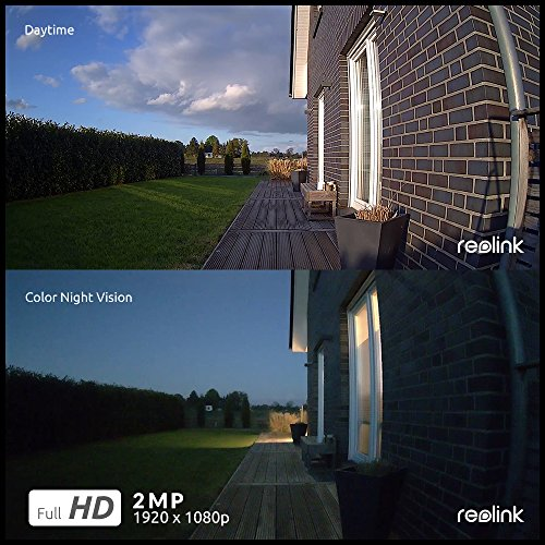 Reolink Rechargeable Battery-Powered Solar Security Camera Wireless for Outdoor Home Surveillance, 1080p HD 2-Way Audio Starlight Night Vision with PIR Motion Sensor SD Card Slot, Argus 2+Solar Panel