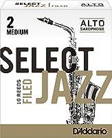 CAムAS SAXOFON ALTO - DエAddario Rico (Select Jazz) Filed (Dureza 2 MEDIA) (Caja de 10 Unidades)
