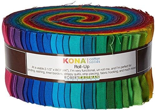 Robert Kaufman 5in Squares Kona Solids Ash Colorway 42Pcs