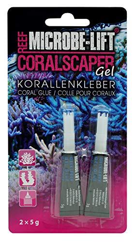 MICROBE-LIFT CSCA10 Coralscaper - Korallenkleber - Sekundenkleber in Gel Form, einfache und sichere Anwendung in jedem Meerwasseraquarium, 2x5g