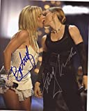 Britney Spears & Madonna Autograph Signed 8 x 10 Photo