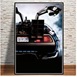 Back to The Future Movie Classic Cool Car Poster and Prints Wall Art Canvas Painting Cuadros Vintage para Sala de Estar Decoración para el hogar -50x70cm Sin Marco