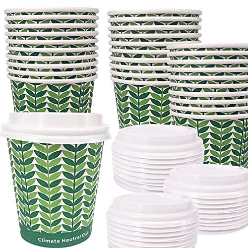 Vasos Cafe Carton Con Tapa vasos cafe  Marca Eco Natural
