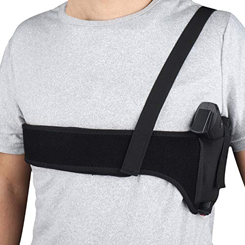 Kosibate Shoulder Holster, Underarm Gun Holster Neoprene Concealed Carry Universal Pistol Holsters Fits G17 19 26 42 43, 1911, M&P Shield 9mm, Revolver, Sig P320 Holsters(45 Inch)