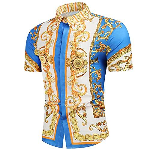 SSBZYES Camisas para Hombres Camisas De Verano De Manga Corta Camisas De Gran Tamaño Camisas De Manga Corta Camisas Estampadas Camisas De Manga Corta Camisas Finas E Informales De Manga Corta
