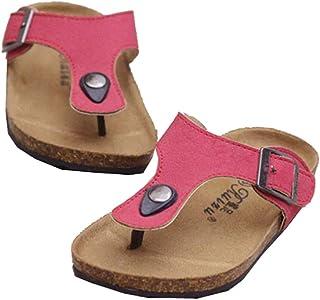 AGOWOO Kids Toddler Girls Boys Soft Wood Cork Beach Sandals