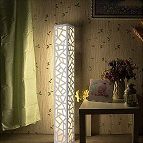 TATANE warmwit led-licht, stereo-design, grote staande lamp, houten plaat, kunststof, voetschakelaar, ideaal voor decoratie, woon- en slaapkamer.