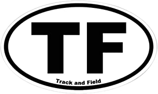 CafePress Track and Field Oval Sticker Oval Bumper Sticker, Euro Oval Car Decal