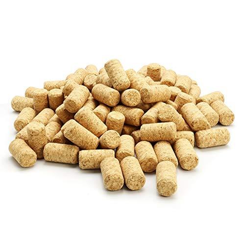 Reutilizable 100 unids de madera recta tapones de vino tapón de vino tapón de madera tapón de cono tipo cono botella de vino tapón tapón sellado tapa botella de cerveza corchos para vino embotellado.