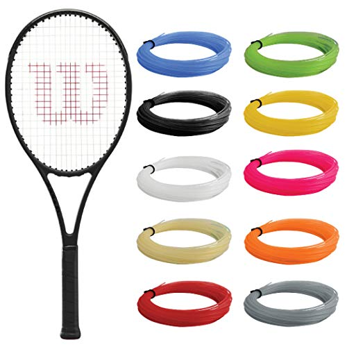 """Wilson Pro Staff 97L v13 Tennis Racquet (4 1/8"""" Grip) Strung with Green Synthetic Gut Racket String - Best Racquet for Comfort and Control"""