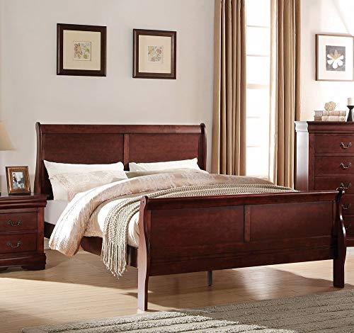 ACME Furniture Louis Philippe 23747EK Eastern King Bed, Cherry