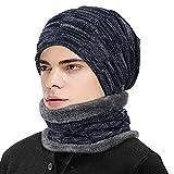 ZIQIAN Beanie Hat Men Warm Knit Hat Oversize Skull Cap Male Female Skiing