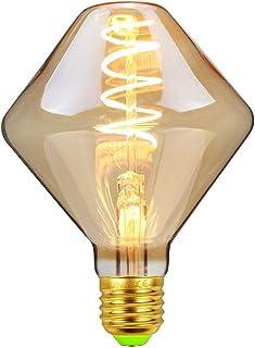 Bombillas LED Edsion Vintage 4W Regulable 220/240V E27 Especial Decorativa Bombilla Ámbar Cristal Calor Glow (Gyro)