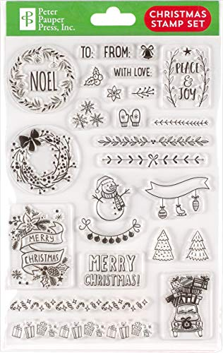 Christmas Clear Stamp Set (25 individual stamps)