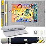 GRATEFUL HOUSE Premium ROLL UP Puzzle Mat for Jigsaw Puzzle Storage. Wool Blend Felt lays Perfectly Flat Comes Rolled & NOT Folded. Fits 500 1000 1500 Piece Puzzles.46 x 26 inch Puzzle Saver