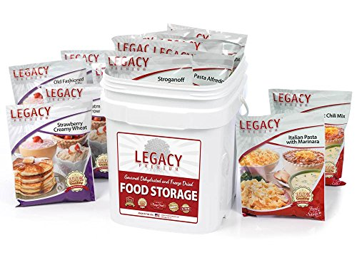 Survival Food Storage - 60 Large Servings - Freeze Dried Meal Assortment - 18 Lbs - Emergency Preparedness Supply Kit - Dehydrated Breakfast, Lunch & Dinner - Camping, Hiking Too by Legacy Premium Food Storage