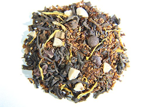 Nelson's Tea - Chocolate Caramel Turtle - Black Loose Leaf Tea - Pu-erh black tea, red rooibos, Allspice, Carob beans, Cinnamon chips, Marigold Petals, Caramel pieces, Chocolate chips - 2 oz.