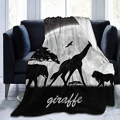 gfhfdjhf Hip Hop Ich Liebe April Die Giraffe-UltrSoft Micro Fleece Decke-Warm Fluffy Lightweight Throw Blanket Für Outdoor Indoor Camping 80