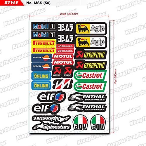 Eni Sport Racing Motorsport Course Voiture Moto Course Autocollants Stickers Logo 50 mm