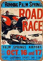 ブリキ看板1953パームスプリングスエアポートロードレースグッズウォールアート