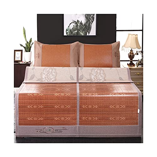 XYUfly20 Bamboo Sleeping Pad Cooling Ice Silk Mattress Bamboo Bamboo On The Front, Ice Silk On The Back Available On Both Sides, Absorbing Sweat and Moisture The Best Gift Choice for Summer