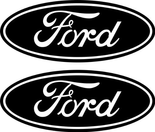 Boston Decal Works 2 Black Emblem Decals Stickers That fit Ford 04-11 Ranger F150 F250 F350 4x4