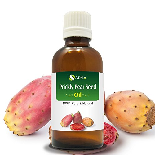 Salvia Prickly Pear Seed Essential Oil (100% Pure, Undiluted and Organic) - Natural Remedy for Younger Looking Skin, Acne, Wrinkles, Anti Aging, Premium Aromatherapy Skin Oil (30 ml)