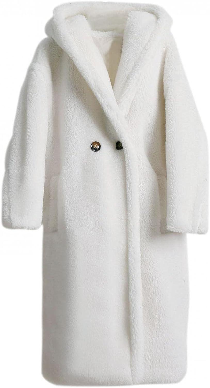 Women's Winter Comfy Teddy Bear Fleece Oversized-Fit Lapel Coat