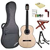 Cordoba C10 SP Crossover Acoustic Nylon String Classical Guitar with Polyfoam Case, ChromaCast Guitar Stand, & Accessories,C10 Crossover-KIT-2