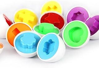 Zonfer Color/é Aux Oeufs De P/âques 48pcs F/ête De P/âques Favor Alimentation Kid Toy Loterie en Plastique Oeuf Amovible Oeuf Vide