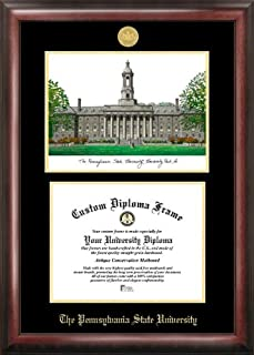 Campus Images PA994LGED Penn State University Embossed Diploma Frame with Lithograph Print, 8.5