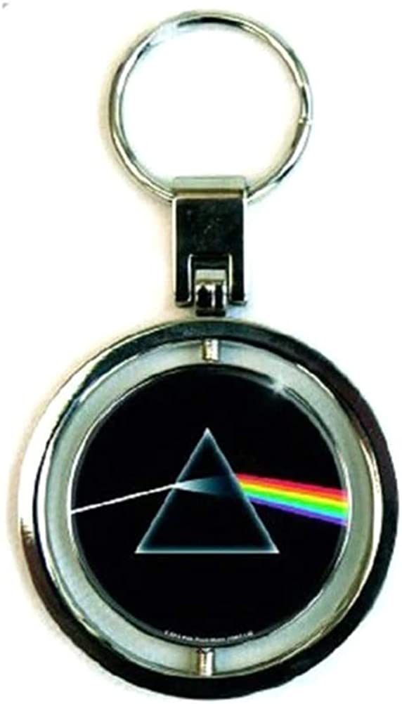 Pink Floyd Keyring Keychain Dark Side Of The Moon Official Spin Size One Size