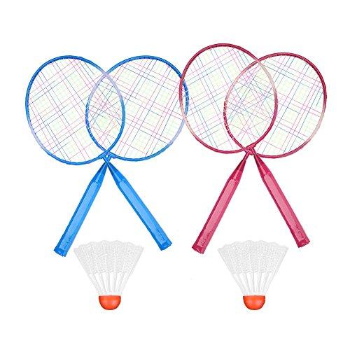 Dirgee Champions Badminton Double Combo Conjunto Raqueta de bádminton (Color : Red)