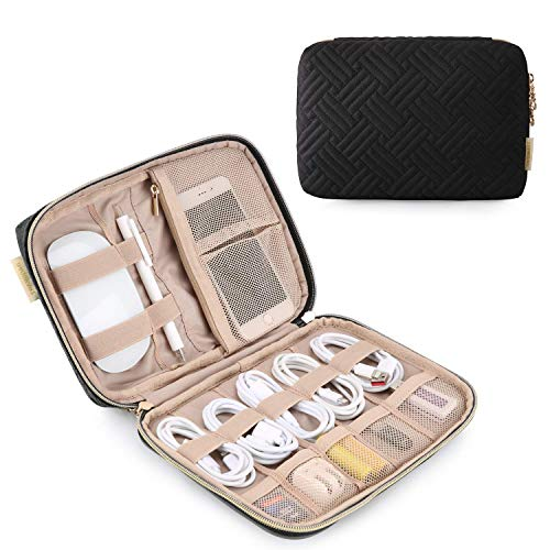 YXZQ Small Travel Electronics Cable Organizer Bag for Hard Drives, Cables, USB Cable, SD Card