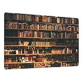 Alfombrilla de ratón para Juegos30X80CM,Base de Goma Antideslizante,Biblioteca Estantería con Libros Estantería Bookworm,Adecuada para Jugadores,PC y portátiles