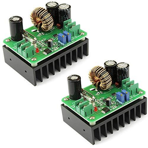 2er-Pack Elektronische Schaltung, DIY DC-DC 10-60 V auf 12-80 V 600 W Boost-Konverter Step-Up-Modul Auto Netzteil Integriertes Design