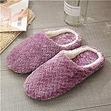 Hausschuhe Slipper Pantoffeln Damen Herren Damen Hausschuhe Weich Für Zu Hause Baumwollschuhe Für Männer Schuhe Für Schlafzimmer Bequeme Schuhe Für Frauen-Lavanda_39