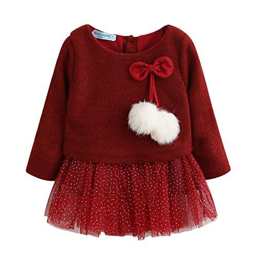 Vestido Tutú 6-18 Meses para Bebé Niña Malla Vestidos Niñas Princesa Infantil Falda Tul...