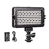 VILTROX RB10 CRI95 + RGB Luz Video LED, Portátil Cámara Iluminación Panel LED para Videocámara DSLR, Valor Color RGB Ajustable, 3300K~5600K Bicolor