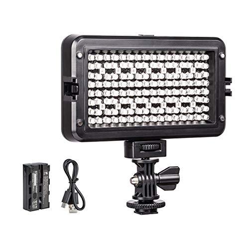 VILTROX RB10 CRI95 + RGB Luz Video LED, Portátil Cámara Iluminación Panel LED para Videocámara DSLR, Valor Color RGB Ajustable, 3300K~5600K Bicolor