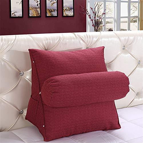 Mebeauty-hm Abnehmbares, verstellbares Kissen Positionierung Unterstützung Leserückenpolster Triangular-Keil-Kissen for Sofa-Bett Tagesbett (Farbe : E, Größe : 55x30x50cm)