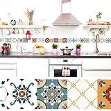 setecientosgramos Cenefa Auto-Adhesiva | Decoración de Pared Cocina & baño, 5 m x 15 cm | Vintage...
