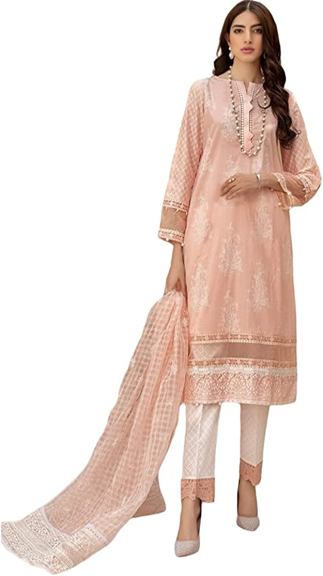 MARIAB Suit Pink Peach DW-EF21-26 Pakistani Dress Women