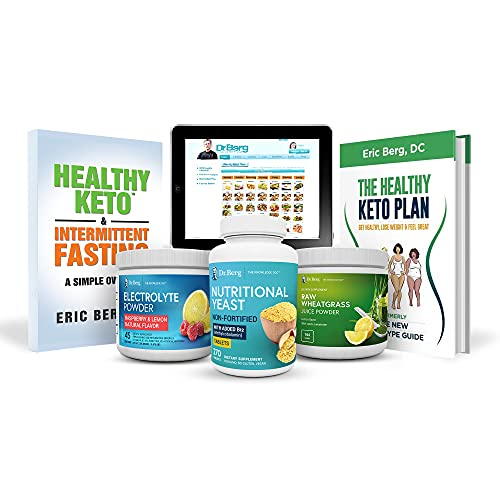Dr. Berg's Complete Keto Kit - Healthy Ketogenic Diet Package Including Nutritional Supplements, Illustrated Quick Keto Guides & Full Instructions w/Bonus Meal Maker, Get Healthy & Lose Weight Fast
