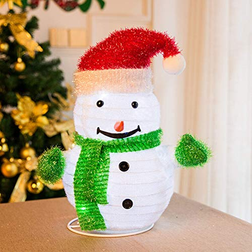 MINILIFE 17 inch Lit Christmas Snowman Lighting Retractable Snowman for Patio Fireplace Indoor Outdoor Yard Lawn Art Decoration(Snowman)
