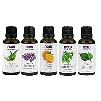 Now Foods Essential Oils 5-Pack Variety Sampler - 1oz each